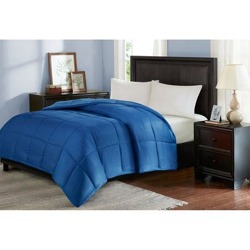 Seersucker Down Alternative Comforter, Blue - Full/Queen