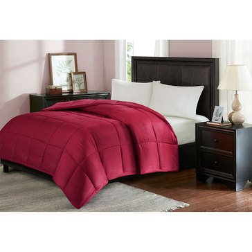 Seersucker Down Alternative Comforter, Rio Red - Full/Queen