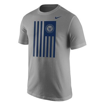 Nike Men's  Cotton Core Short Sleeve Tee with Navy Seal Flag
