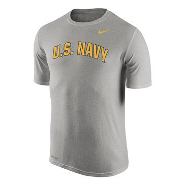 Nike Men's Dri-Fit  Short Sleeve Legend Tee with U.S. Navy  Arced