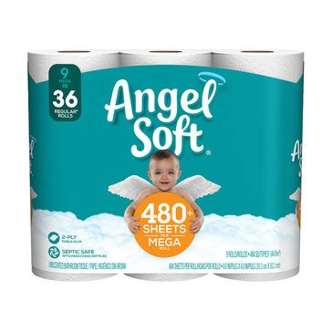 ANGEL SOFT 9MR BATH TISSUE 528 SHT