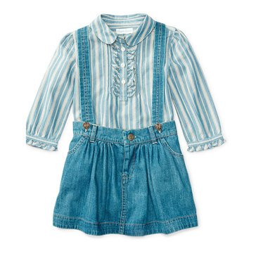 Ralph Lauren Baby Girls' 2-Piece Denim Skirt Set