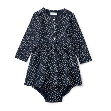 Ralph Lauren Baby Girls' Modal Button Front Dress