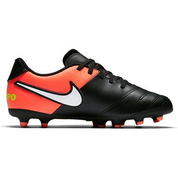 Nike Jr Tiempo Rio III Boys' soccer Shoe Black/White