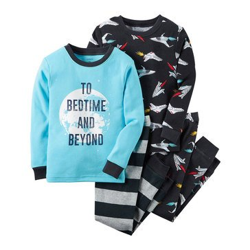 Carter's Little Boys' Bed Time Beyond 4-Piece Pajama Set
