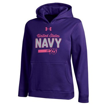 Under Armour Girls' 1775 Navy Performance Hoodie
