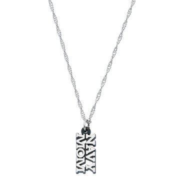 Chronomatic Cut Out Letters Navy Mom Necklace