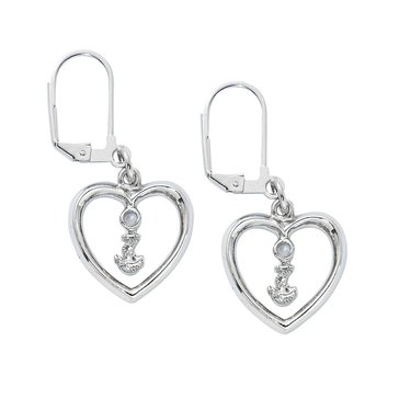 Chronomatic USN Heart Lever Back Earrings