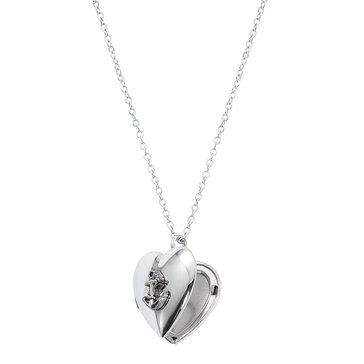 Chronomatic USN Anchor Heart Locket Necklace