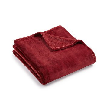 Charter Club Ultraplush Throw, Garnet