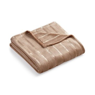Charter Club Ultraplush Embossed Throw, Taupe