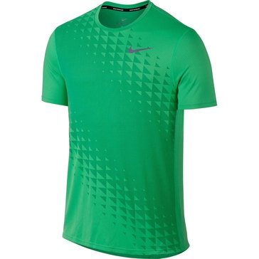 Nike Men's Zonal Cooling Relay Short Sleeve Running Top Electro Green
