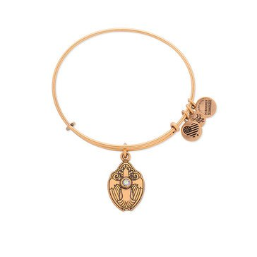 Alex and Ani Crystal Dove Expandable Bangle, Gold Finish