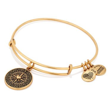 Alex and Ani True Direction Expandable Bangle, Gold Finish