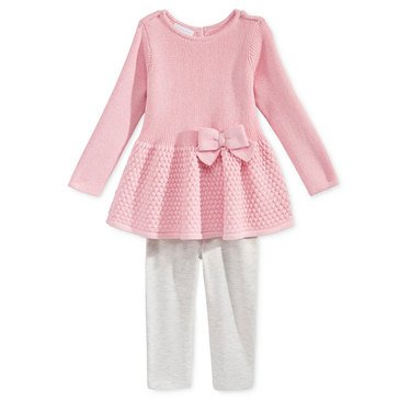 First Impressions Baby Girls' Peplum Sweater Set