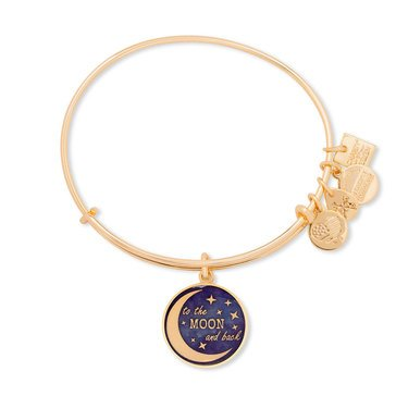 Alex And Ani Charity By Design 'Stellar Love' Expandable Wire Bangle Gold Tone