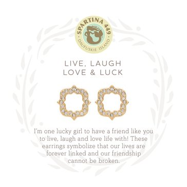 Spartina 449 Sea La Vie Stud Earrings Luck/Quatrerfoil