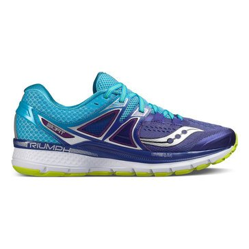 Saucony Triumph ISO 3 Women's Running Shoe Purple/ Blue/ Citron