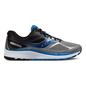 Saucony Guide 10 Men's Running Shoe Grey/ Black/ Blue