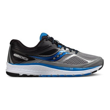 Saucony Guide 10 (Wide) Men's Running Shoe Grey/ Black/ Blue