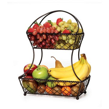 Mikasa Loop and Lattice 2-Tier Flatback Basket