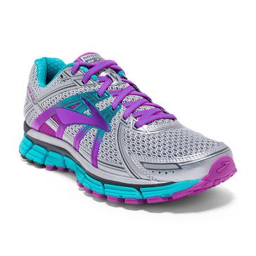 Brooks Adrenaline GTS 17 Women's Running Shoe Silver/ Purple Cactus Flower/ Bluebird