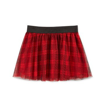 Epic Threads Little Girls' Plaid Print Tulle Skirt