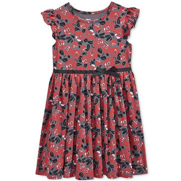 Epic Threads Little Girls' Flower Print Knit Skater Dress