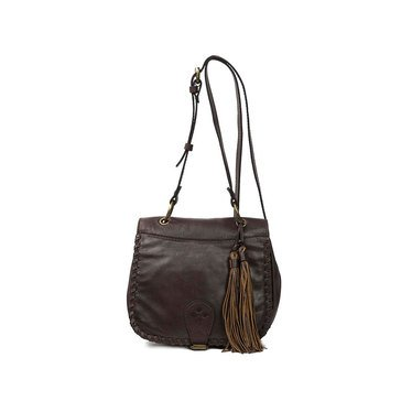 Patricia Nash Karisa Small Saddle Bag Soft Veg Chocolate