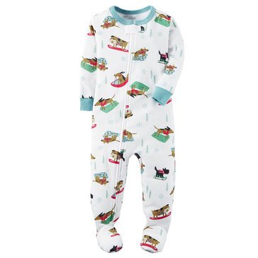 Carter's Baby Boys' Pajamas, Dog Sled