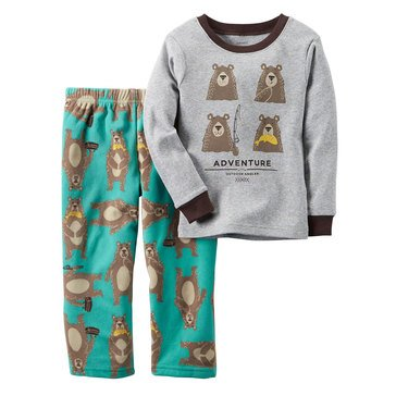 Carter's Baby Boys' 2-Piece Fleece Pajamas, Adventure Bear