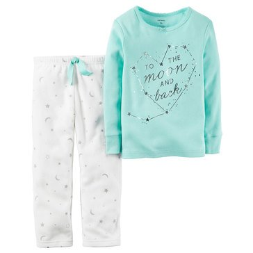 Carter's Baby Girls' 2-Piece Pajamas, Moon and Back