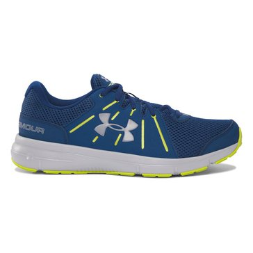 Under Armour Dash 2 Men's Running Shoe Blackout Navy/ Smash Yellow/ Gray Wolf