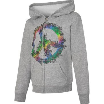 Hanes Big Girls' Peace Fleece Zip Hoodie, Medium