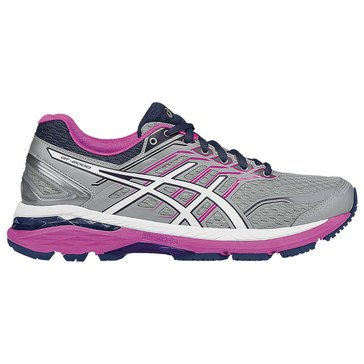Asics GT-2000 5 Women's Running Shoe Mid Grey/ White/ Pink Glow