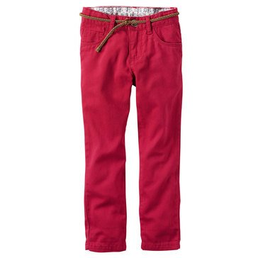 Carter's Toddler Girls' Belted Twill Pant
