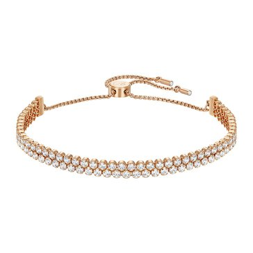 Swarovski Subtle Bracelet, Rose Gold Plated