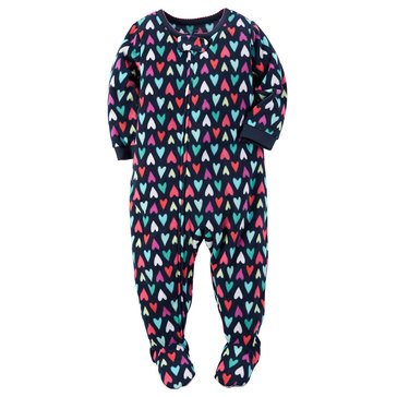 Carter's Little Girls' Fleece Pajamas, Hearts