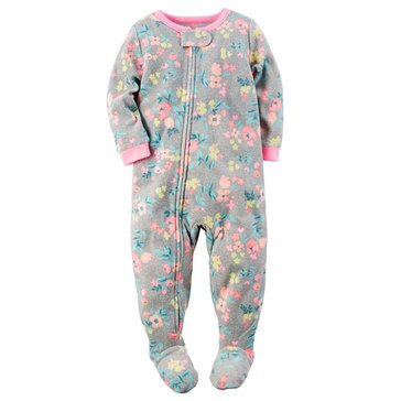 Carter's Little Girls' Fleece Pajamas, Flower