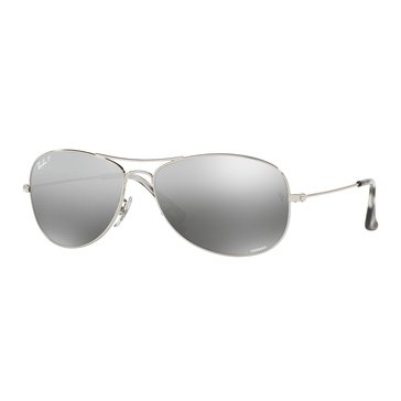 Ray-Ban Men's Chromance Polarized Sunglasses RB3562, Silver/ Silver Mirror 59mm