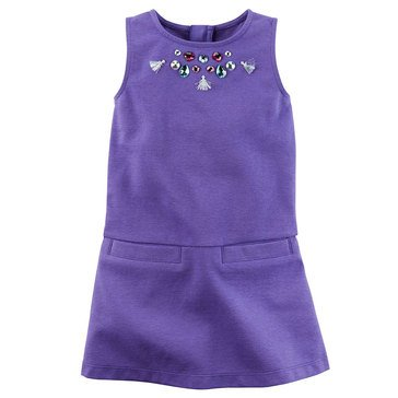 Carter's Little Girls' Ponte Jewel Dress