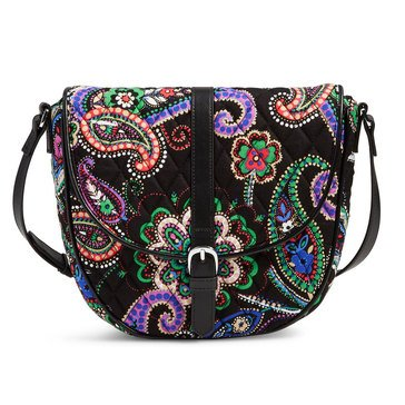 Vera Bradley Slim Saddle Bag Kiev Paisley