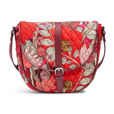 Vera Bradley Slim Saddle Bag Bohemian Blooms