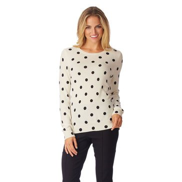 Only Mine Cashmere Dot Crew Sweater
