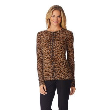 Only Mine Cashmere Animal Crewneck Sweater