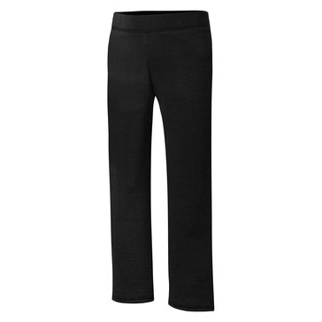 Hanes Big Girls' Black Fleece Pants, Medium