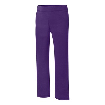 Hanes Big Girls' Purple Fleece Pants, Small