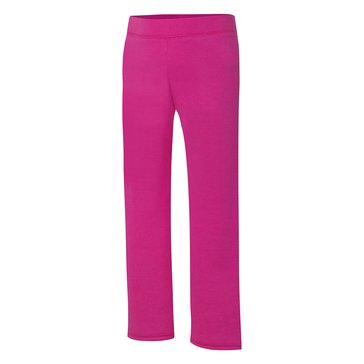 Hanes Big Girls' Pink Fleece Pants, Medium