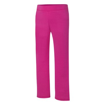 Hanes Big Girls' Pink Fleece Pants, X-Large