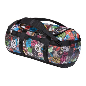 The North Face Base Camp Duffel, M - Red Sticker/Bomb Print